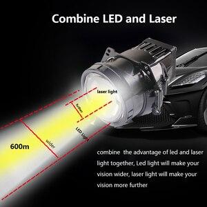 Image 5 - SANVI Car Bi LED&laser Projector Lens headlight 35w 6000K hi low beam Auto LED Projector Headlight Car Motorcycle Light Ppgrade