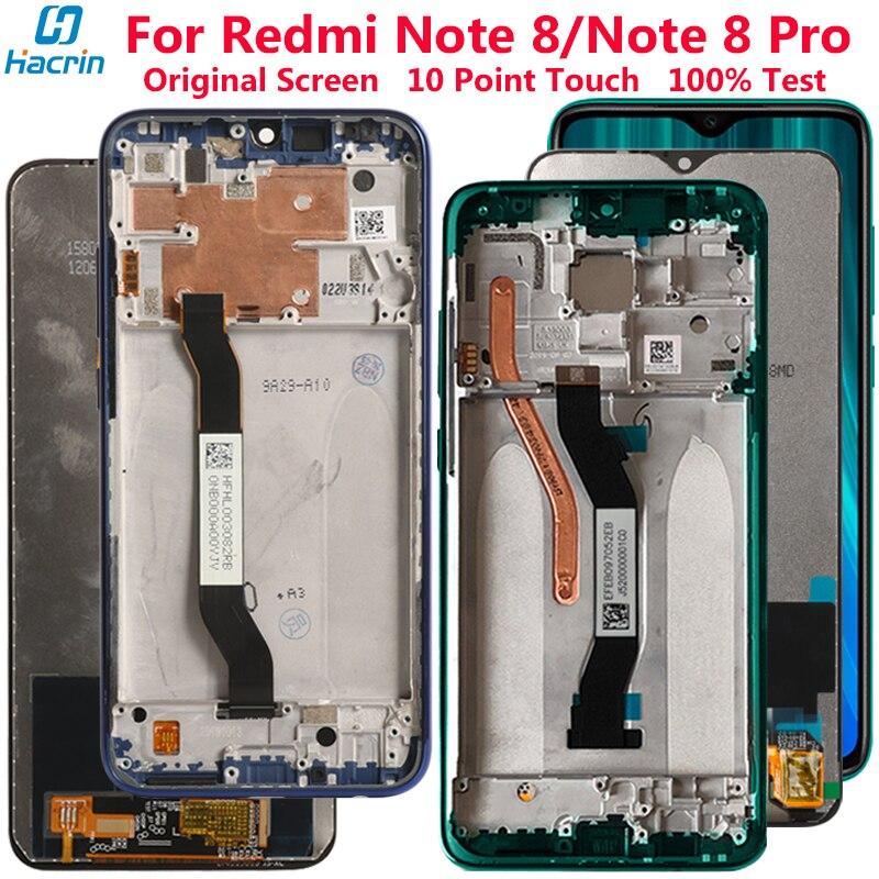 Оригинальный дисплей для Redmi Note 8 ЖК-дисплей кодирующий преобразователь сенсорного экрана в сборе Замена для Redmi Note 8 Pro экран с логотипом