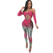 Plus Size 2XL Retro Bandage Jumpsuits Women Sexy Long Sleeve Hollow Out Tie-up Bodycon Playsuits Elegant Casual Overalls