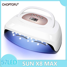 Sun X8 Max Led Uv Nail Lamp 220w Nail Dryer Auto Senser for Curing Gel Polish Professional Gel Lacquer Lamp Uv Lamp for Nails