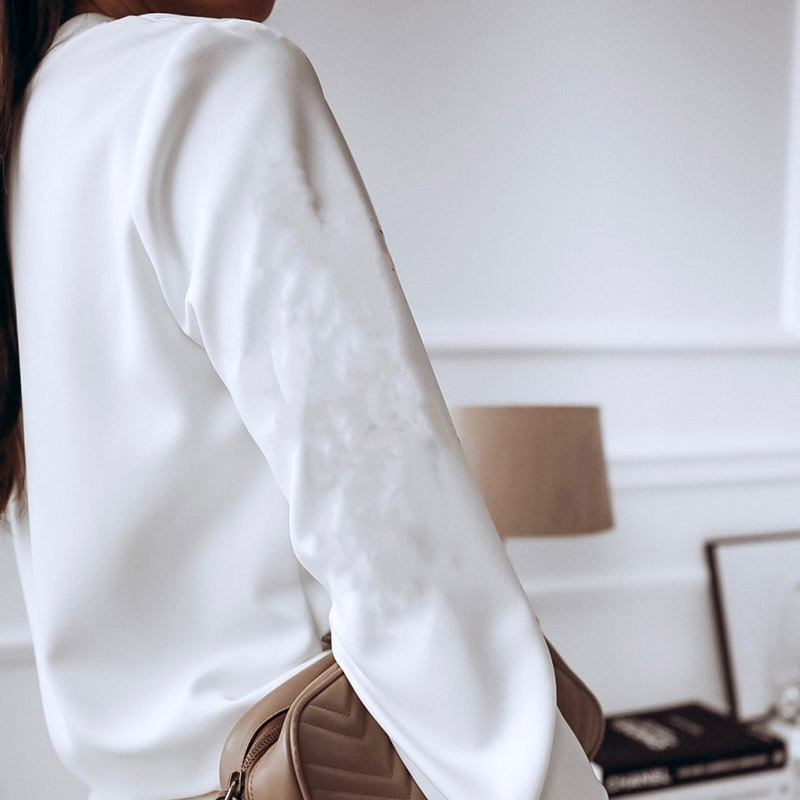 Elegant White Blouse Shirt Women's Long Sleeve Buttton Fashion Woman Blouses 2020 Womens Tops and Blouses Solid Spring Tops 3