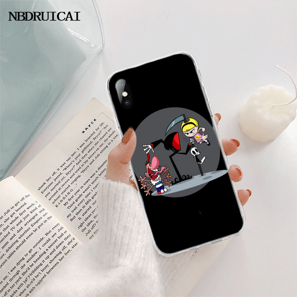 NBDRUICAI การ์ตูนบิลลี่และแมนดี้ CUSTOM Photo โทรศัพท์นุ่มสำหรับ iPhone 11 Pro XS สูงสุด 8 7 6 6S PLUS X 5S SE XR ฝาครอบ