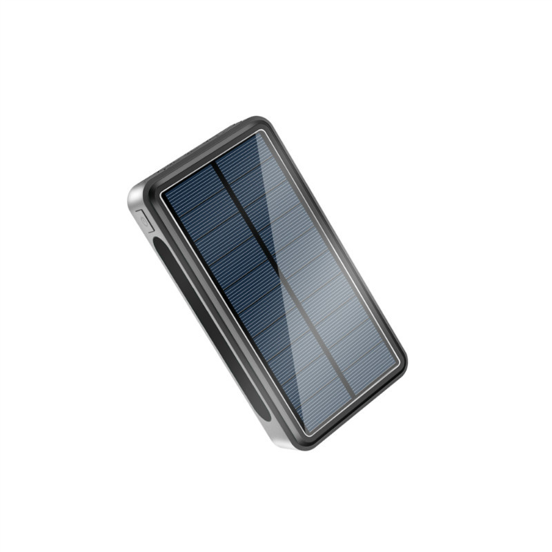 Qi <font><b>Wireless</b></font> Charging Solar <font><b>Power</b></font> <font><b>Bank</b></font> <font><b>30000</b></font> <font><b>mAh</b></font> for iPhone Samsung Xiaomi Phone Powerbank Portable Charger Poverbank with Light image