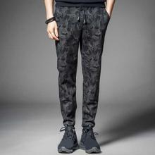 Pants Men Autumn Drawstring Thick Warm men Pants Camouflage Ankle Tied Sweatpants Trousers Casual Pants Men's Clothing