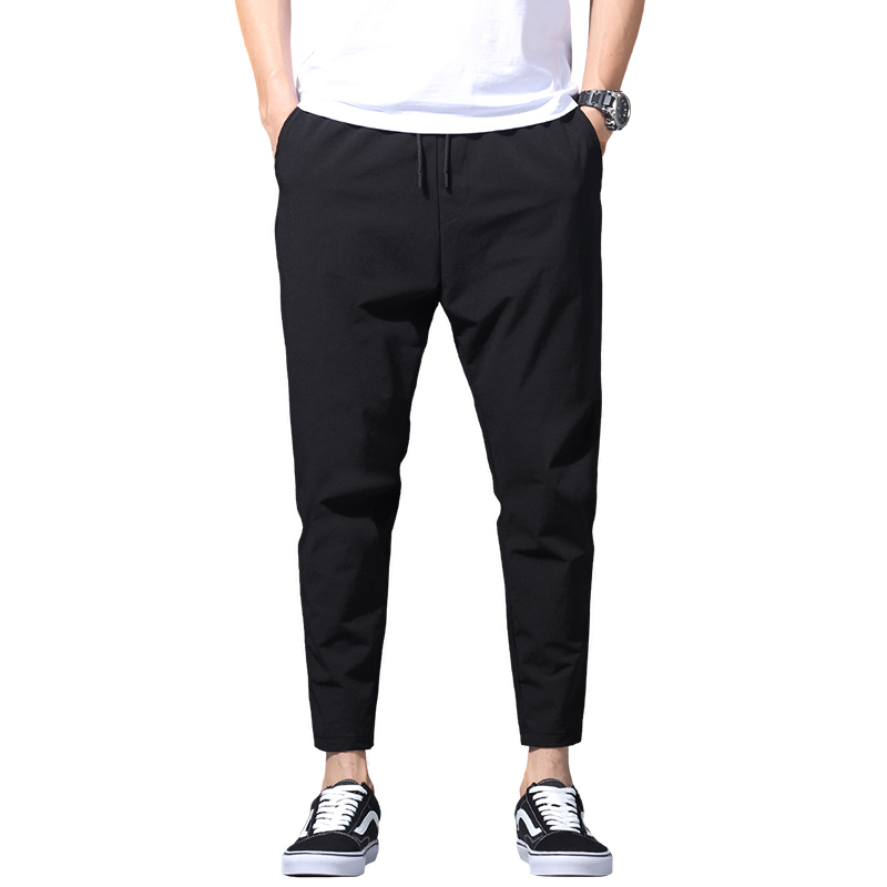 New men's leisure ice silk breathable trousers 2020 men's sport jogging fitness comfort stretch tactical men's trousers