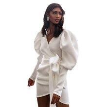 Echoine Women Dress bag hip autumn winter long sleeve dresses elegant vintage Sexy dress bodycon plus size white Black female