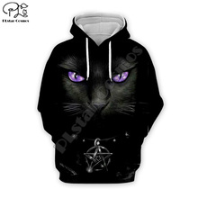 Black evil cat print Men 3d Hoodies terror Halloween Christmas galaxy Sweatshirt tshirt zipper pullover women unisex Tracksuit цена и фото