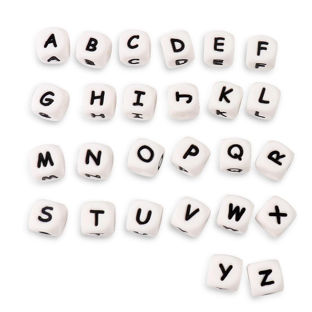 Baby BPA Free Silicone Loose Beads Teething Nursing Teether  Beads Chain Z