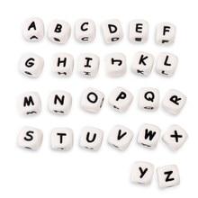 TYRY.HU – anneau de dentition en Silicone pour bébé, 100 pièces, perles de 12MM, lettres de l'alphabet sans BPA, soins pour bébé, à mâcher, DIY