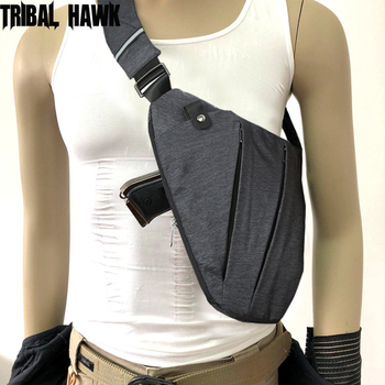 Outdoor Tactical Storage Gun Holster Shoulder Bags Men Anti-theft Chest Bag Army Police Hunting Crossbody Hand Gun Pistol Bag aaa tactical waist pistol holster safety anti thief hidden holster molle hidden gun bag hunting shoulder bag sport storage