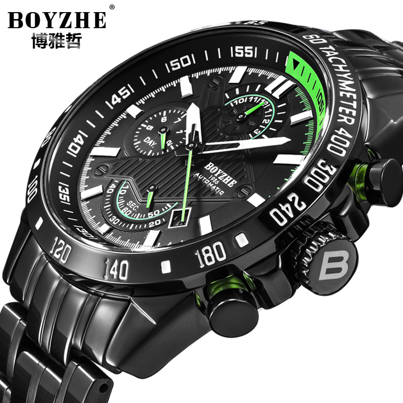 New Automatic Mechanical Watch Men Fashion Watch M
