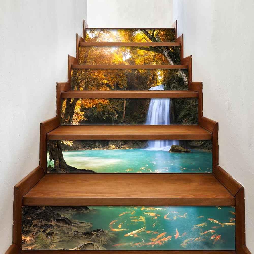 6 шт./компл. креативный 3D DIY пейзаж стикер на стену s ПВХ украшение для лестниц