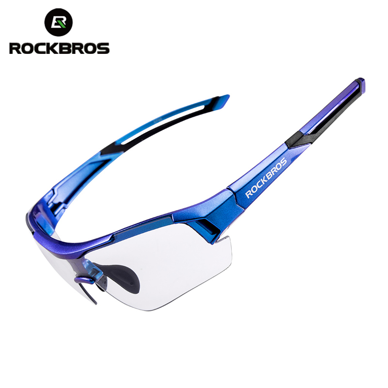 ROCKBROS Sport Sunglasses Frame Road-Bike Eyerwear UV400 Outdoor Blue MTB Gradient Men