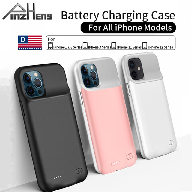 PINZHENG Battery Charger Case For iPhone 7 8 6 6S Plus Charging Case For iPhone X XS 12 11 Pro Max Portable Power Bank Charger 1