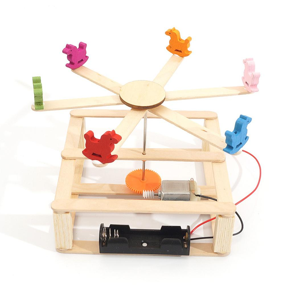 DIY Assembly Handmade Carousel Scientific Experiment Children Educational Toy