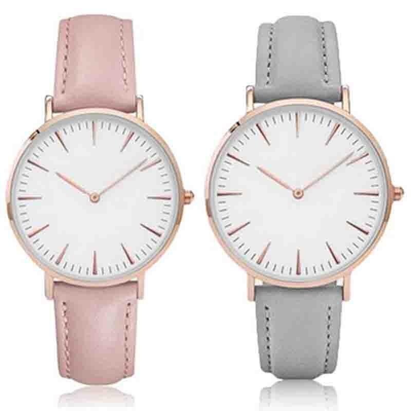 Men Luxury Casual Big Round Dial Analog Quartz Watch Men Women Concise Faux Leather Band Watches reloj mujer ladies Watch reloj