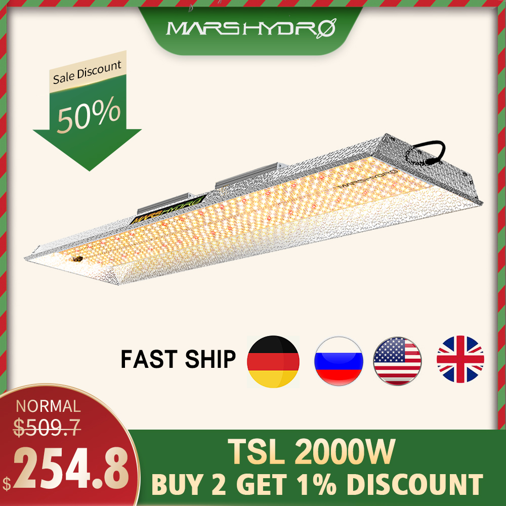 Mars Hydro TSL 2000W Led Grow Light Full Spectrum Indoor Plants Hydroponic System Tent For Veg Flower Blooms Led Growing Lamp