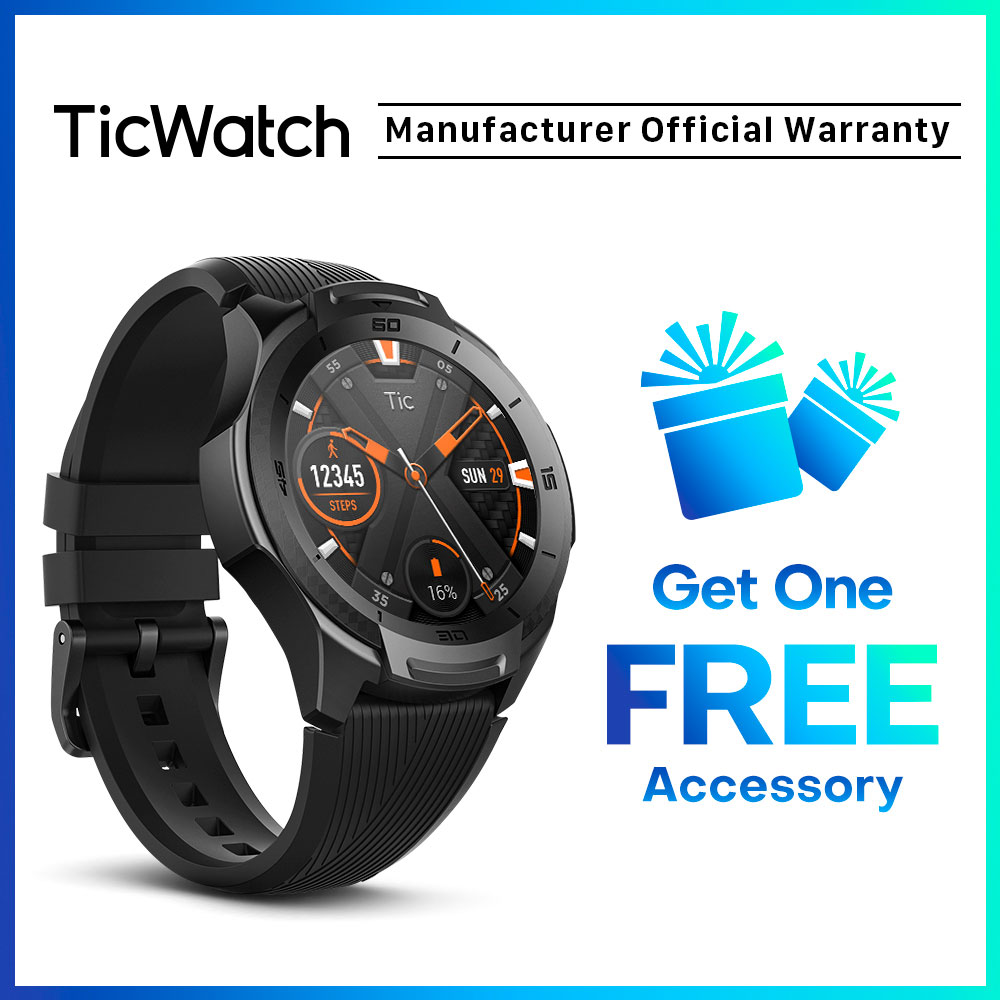 TicWatch S2 Wear OS Smartwatch Bluetooth GPS Sport Watch For Men And Women 5ATM Waterproof For IOS&Android Long Battery Life
