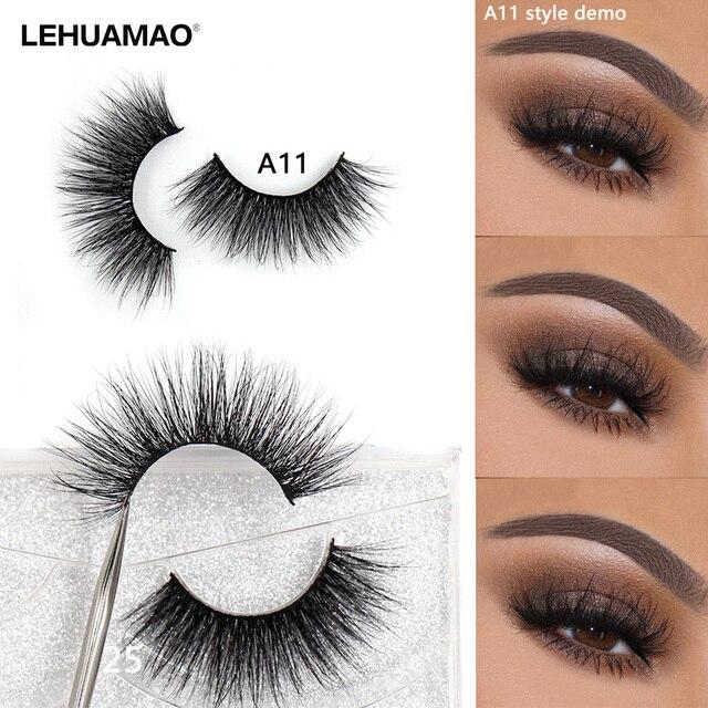 LEHUAMAO Mink Eyelashes 3D Mink Lashes Thick HandMade Full Strip False Eyelashes cruelty free Mink Lashes 34 Style Makeup Lashes 1