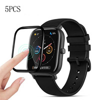 Película protectora de vidrio de fibra suave para reloj deportivo inteligente, funda protectora de pantalla completa para Xiaomi Huami Amazfit Gts / Gts 2e, 5 uds.