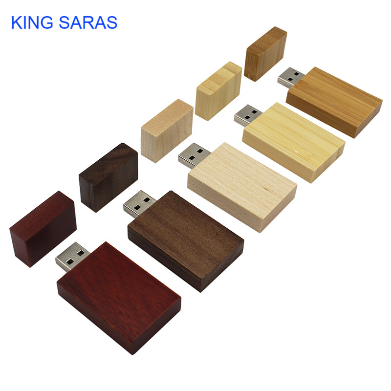 KING SARAS Rose Wood Maple Wood Personalized LOGO Usb Flash Drive Usb 2.0 4GB 8GB 16GB 32GB 64GB Photography Gift Walunt  Wood