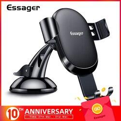 Essager Gravity uchwyt samochodowy na telefon iPhone Samsung uniwersalny uchwyt do montażu na telefon w samochodzie telefonu komórkowego stojak na telefon w Uchwyty i podstawki do telefonów komórkowych od Telefony komórkowe i telekomunikacja na