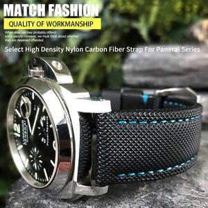 24 мм кожаный спортивный ремешок для часов подходит для Panerai LUMINOR PAM01661 черный синий ремешок для часов для Марины аксессуары мужские браслеты