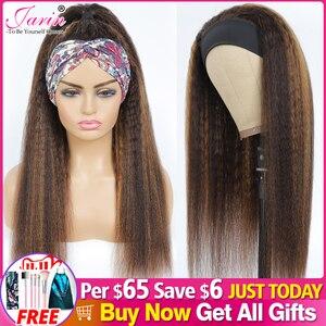 Image 1 - ハイライトカラーヘッドバンドかつら変態ストレート人毛かつらブラジルのremy毛かつら製のかつらjarin髪