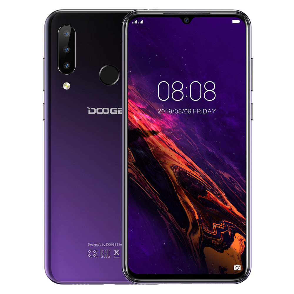 DOOGEE N20 New 2019 Smartphone 6.3inch FHD+ Display 4350mAh 4GB+64GB Octa Core 10w Charge Fingerprint 16MP Triple Back Camera