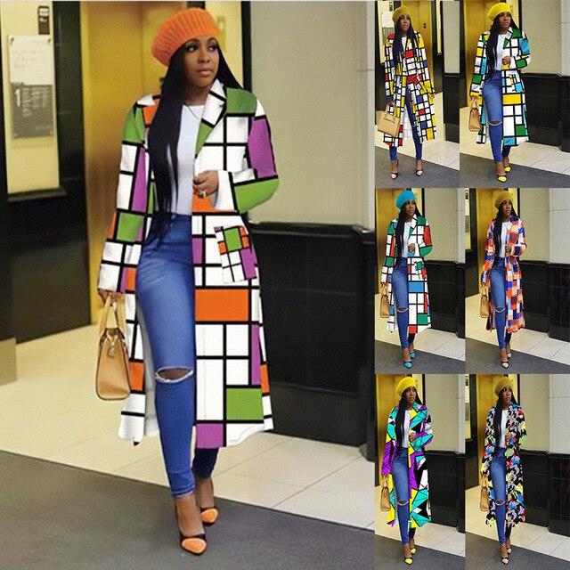 African Women Long Sleeve Printing Plus 2
