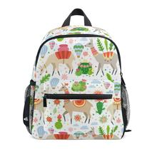 Children Orthopedic School Bag for Kids girls Kawaii Llama And Cactus Backpack Satchel Mochila Infantil Primary School Backpacks