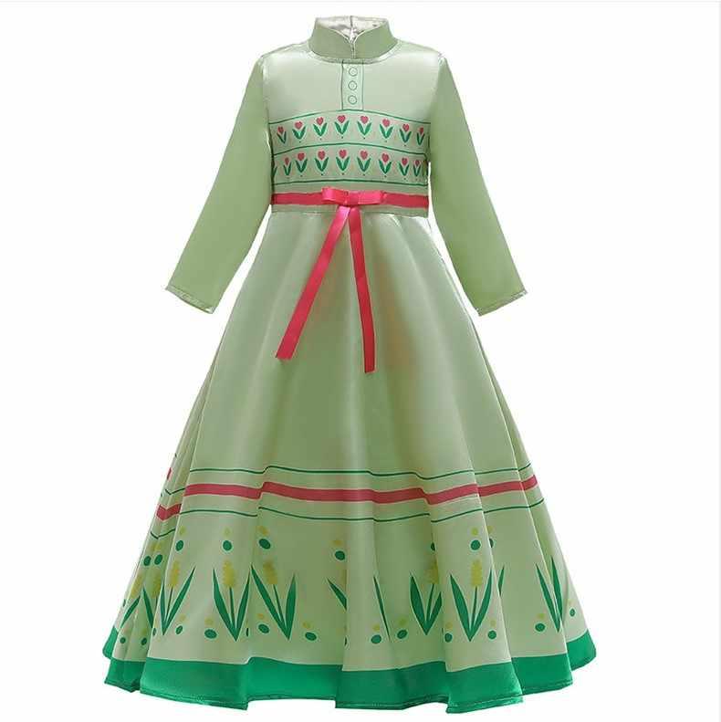 2020 bebek kız Anna Elsa prenses elbise cadılar bayramı karnaval parti elbise doğum günü kostüm çocuk giyim Vestidos