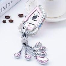 Diamante caso clave de coche inteligente funda de llave a distancia para BMW X1 X3 X5 X6 serie 1 2, 5, 7 F15 F16 E53 E70 E39 F10 F30 G30 llavero