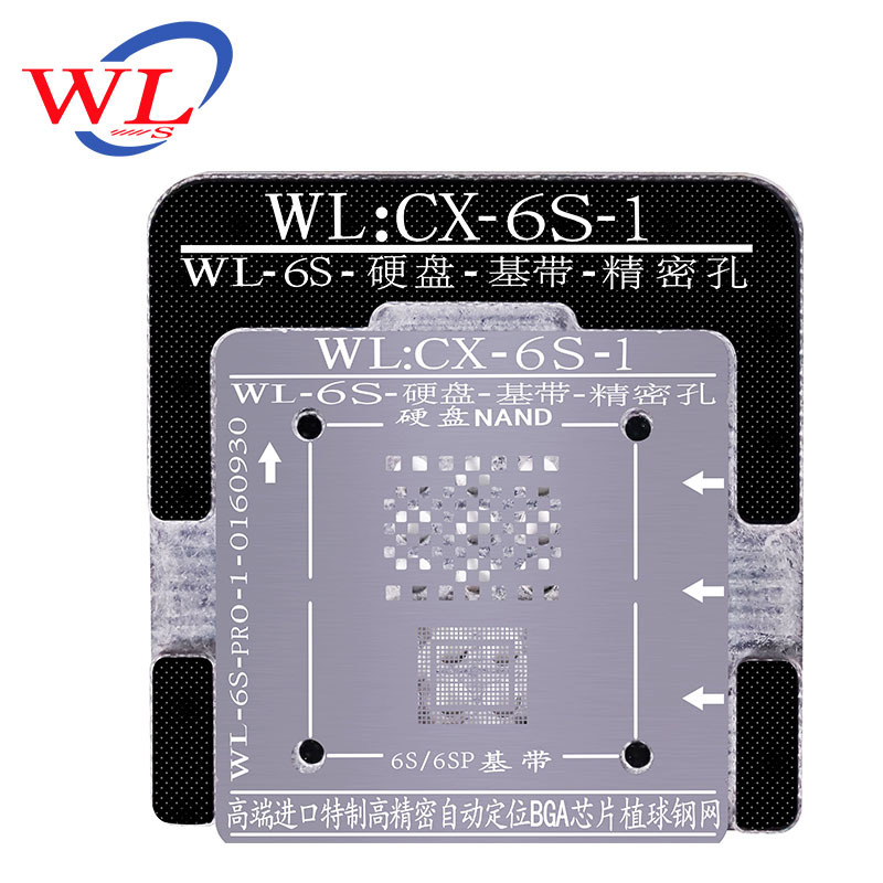 WL HDD Repair Tool Phone 6S 6SP 7 7P 8 8P X XR XS MAX Plus NAND Processor BGA Reball Tin Net HDD Baseband Stencil Great Repair