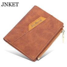 цены JNKET New Retro Men's Short Wallet PU Leather Clutch Wallet Zipper Wallet Money Clip Credit Card Wallet Card Holder Notecase