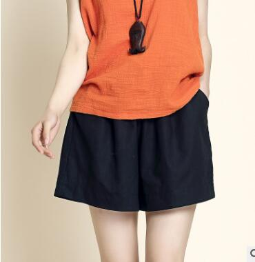 YQ220 Manufacturer Wholesale Large Size Household Cotton And Linen  Women Summer Broad Leg  Casual Sport