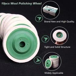 10Pcs 98mm Wool Polishing Wheel Buffing Pads Angle Grinder Wheel Felt Polishing Disc for Metal Marble Glass Ceramics with Box