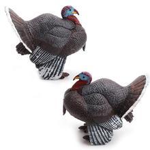 Simulation turkey bird Chicken Farm Pvc animal model figurine home decor miniature fairy garden decoration accessories modern
