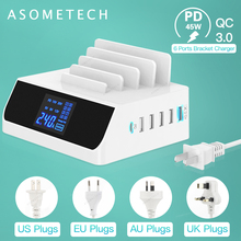 100W Multi Usb Ports Dock Station USB Charger PD QC 3.0 Quick Charge Type C Fast Charging For Notebook PC iPhone 12 11 xiaomi
