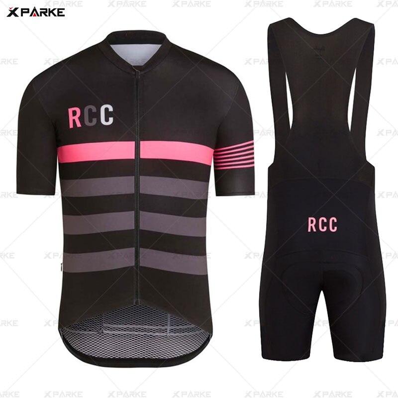 NEW Pro RCC Rapha Cycling Jersey Set Racing Bicycle Clothing Man Maillot Ropa Ciclismo MTB Bike Clothing Sportswear Cycling Set