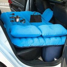 مرتبة مرتبة للسفر قابلة للنفخ في السيارة من OGLAND مرتبة للمقعد الخلفي للسيارة وسادة أريكة متعددة الوظائف وسادة للتخييم في الهواء الطلق