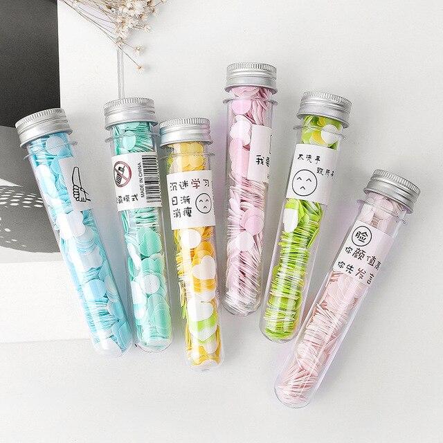 1 Pc Portable Mini Soap Tablets Flower Paper Soap Body Hand Washing Bath  Body Washing Bath  Travel Accessory Send Random Colors