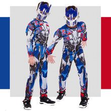 Optimus Prime Cosplay Costume For Boys Robot Muscle Suit For Kids Superhero Movie Halloween Costumes Anime Event Gift Party