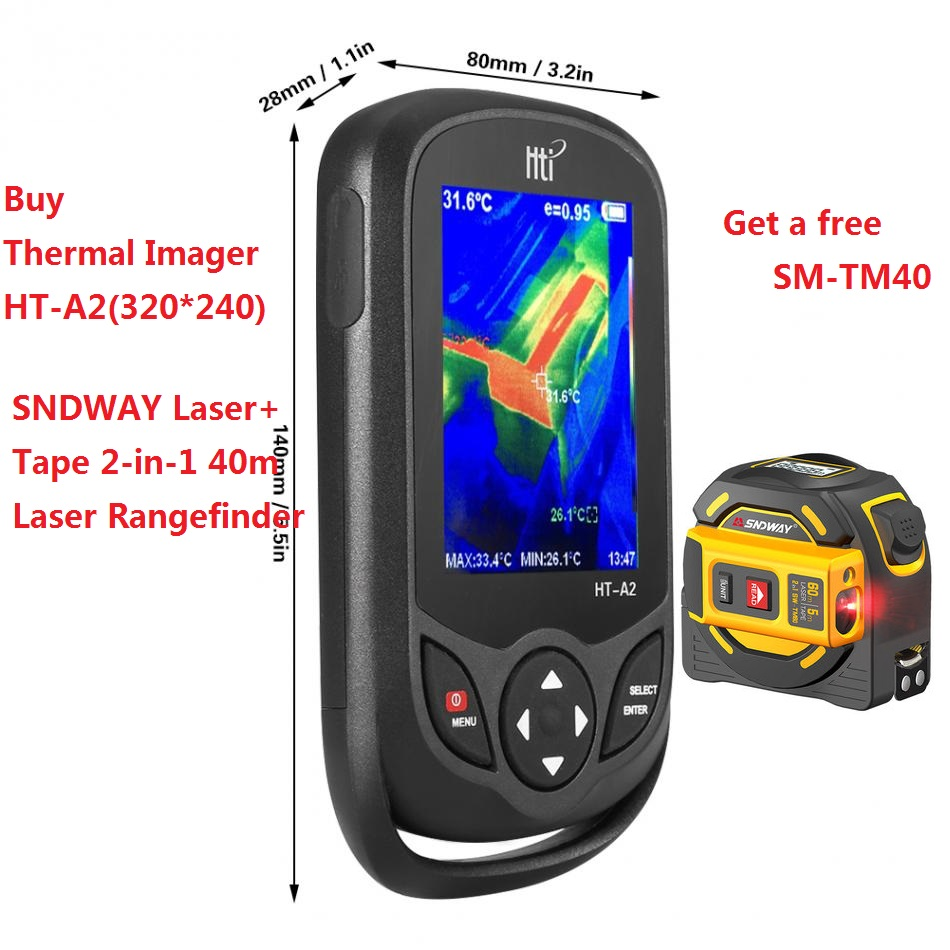 HT-A2 TFT Thermal Camera With Display Screen For Temperature  Measuring Tools 3