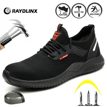 RAYDLINX Work Steel Toe Shoes Safety Shoes for Men and Women Lightweight Industrial and Construction Shoe Breathable  shoes