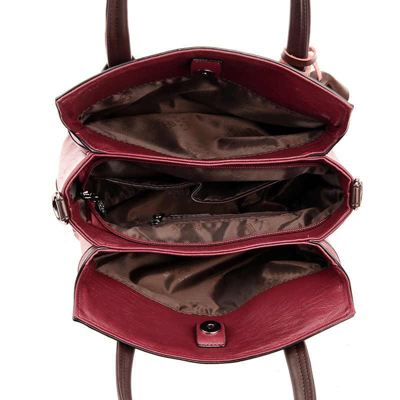 Sac Un Principale di Lusso del Cuoio Genuino Delle Donne Delle Borse borse A Mano Del Progettista Delle Donne di Spalla Crossbody Messenger Bag 2019 casual Tote