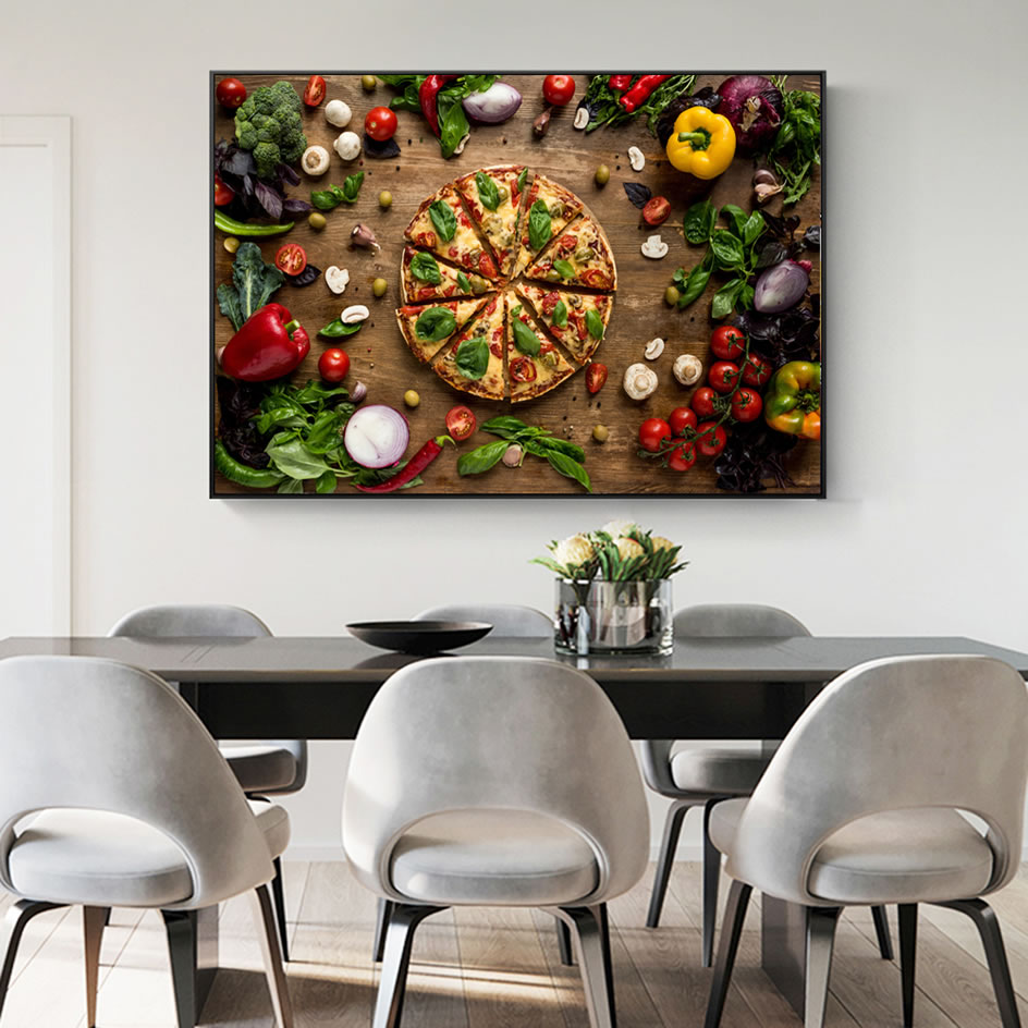 Creative Love Pizza Wall Decor Art Canvas Prints Realist Organic