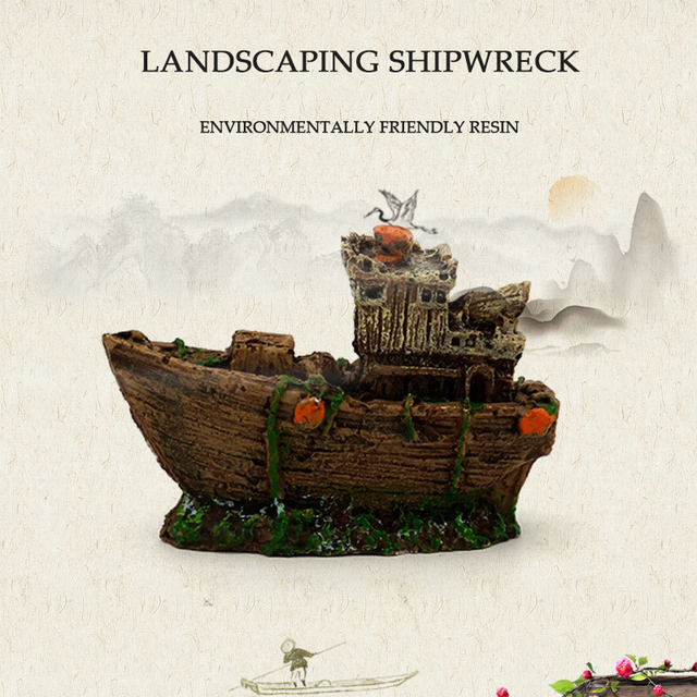 Sunken Pirate Shipwreck Aquarium Landscaping  5