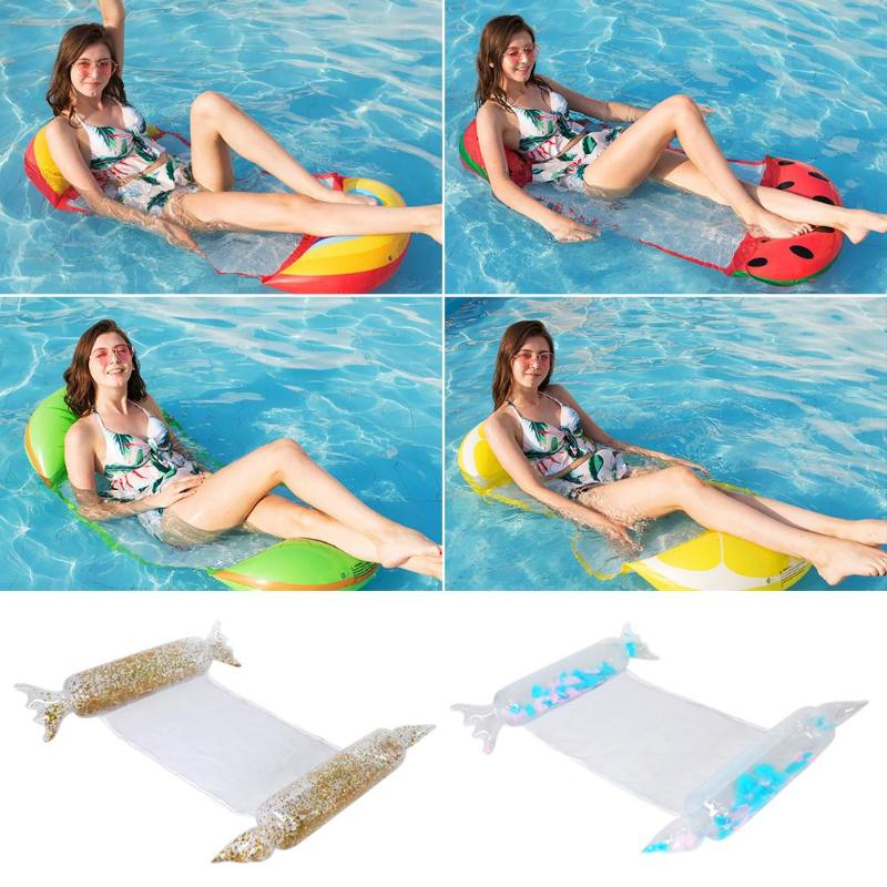 Water Mesh Bottom Inflatable Floating Water Bed Beach Mat Water Kids Adult Swimming Pool Supplies Inflatable Floating Bed Wood