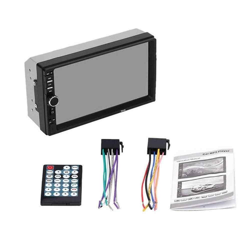 2019 sıcak 2 Din MP5 oyuncu 7 inç LCD dokunmatik ekran otomatik FM radyo Video oynatıcı müzik ses ile USB destek arka kamera